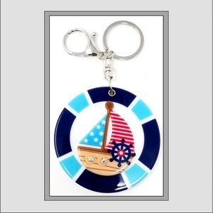 Accessories - Sailboat Keychain / Compact Mirror